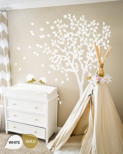 White Tree Wall Decals   Nursery Wall Decal   Large Kids Room Wall Decor  Wall Mural