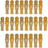 Set of 26 Foosball Players Tan / Yellow Old Style Men