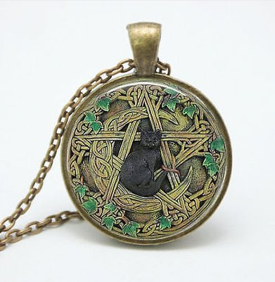 Amazon black cat wicca pendant necklace pentagram wiccan black cat wicca pendant necklace pentagram wiccan jewelry charm aloadofball Gallery