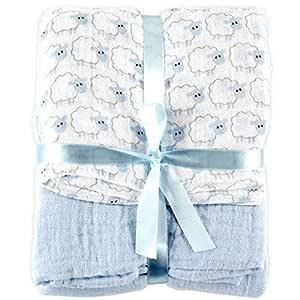 Urban Kanga 4 Layer Muslin Blanket Baby Swaddle Blanket Blue