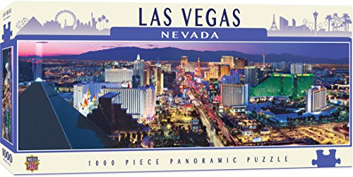 MasterPieces Cityscapes Panoramic Jigsaw Puzzle, Las Vegas Strip, Nevada, Photographs by James Blakeway, 1000 Pieces