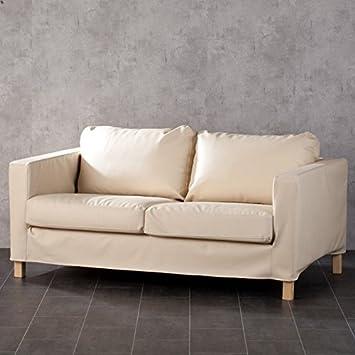 Dekoria Karl Halmstad de 2 plazas sofá en de Piel ecológica ...