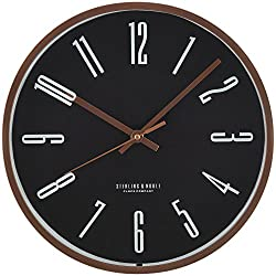 Mainstays Black and Rose Gold Wall Clock