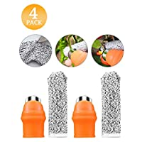 I-SHUNFA Garden Silicone Thumb Knife, Separator Finger Knife and Anti-Cut Finger Cover, Gardening Gifts Harvesting Plant Knife Trim Garden Vegetable Gardening Tools(Small 4 Pcs