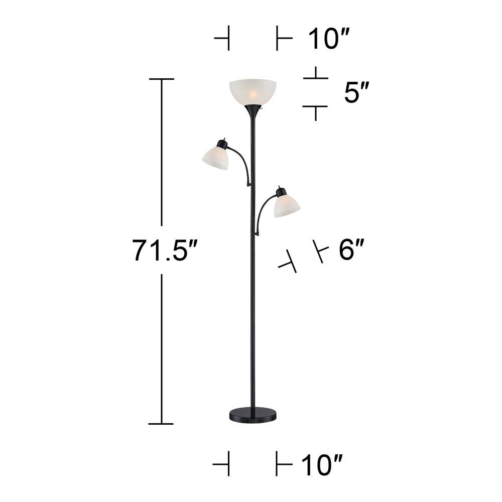 Bingham Black Tree Torchiere 3-Light Floor Lamp by 360 Lighting (Image #5)