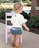 RuffleButts Baby/Toddler Girls Light Wash Denim