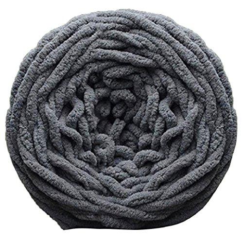 Bluelans 100% Acrylic Thick Soft Yarn Chunky Knitting Yarn Wool 100g, Dark Grey