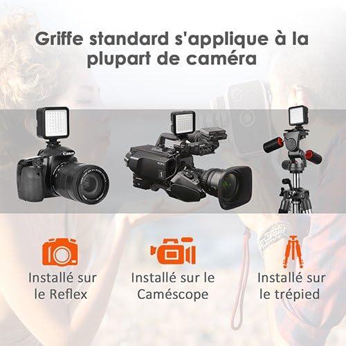Mini antorcha de vídeo lámpara de fotografía – 5.5 W 49 LED ...