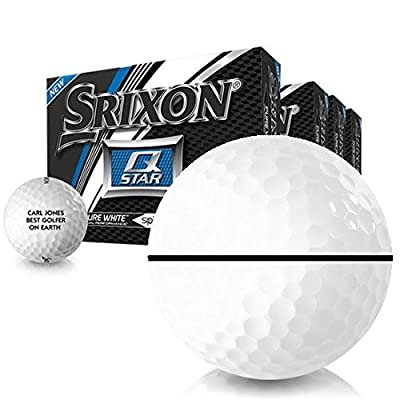 Srixon Q-Star AlignXL Personalized Golf Balls - Buy 3 DZ Get 1 DZ Free