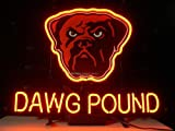 Urby® DAWG POUND MAN CAVE Real Glass Neon Light Sign Home Beer Bar Pub Windows Garage Wall Sign 19''x15'' R21