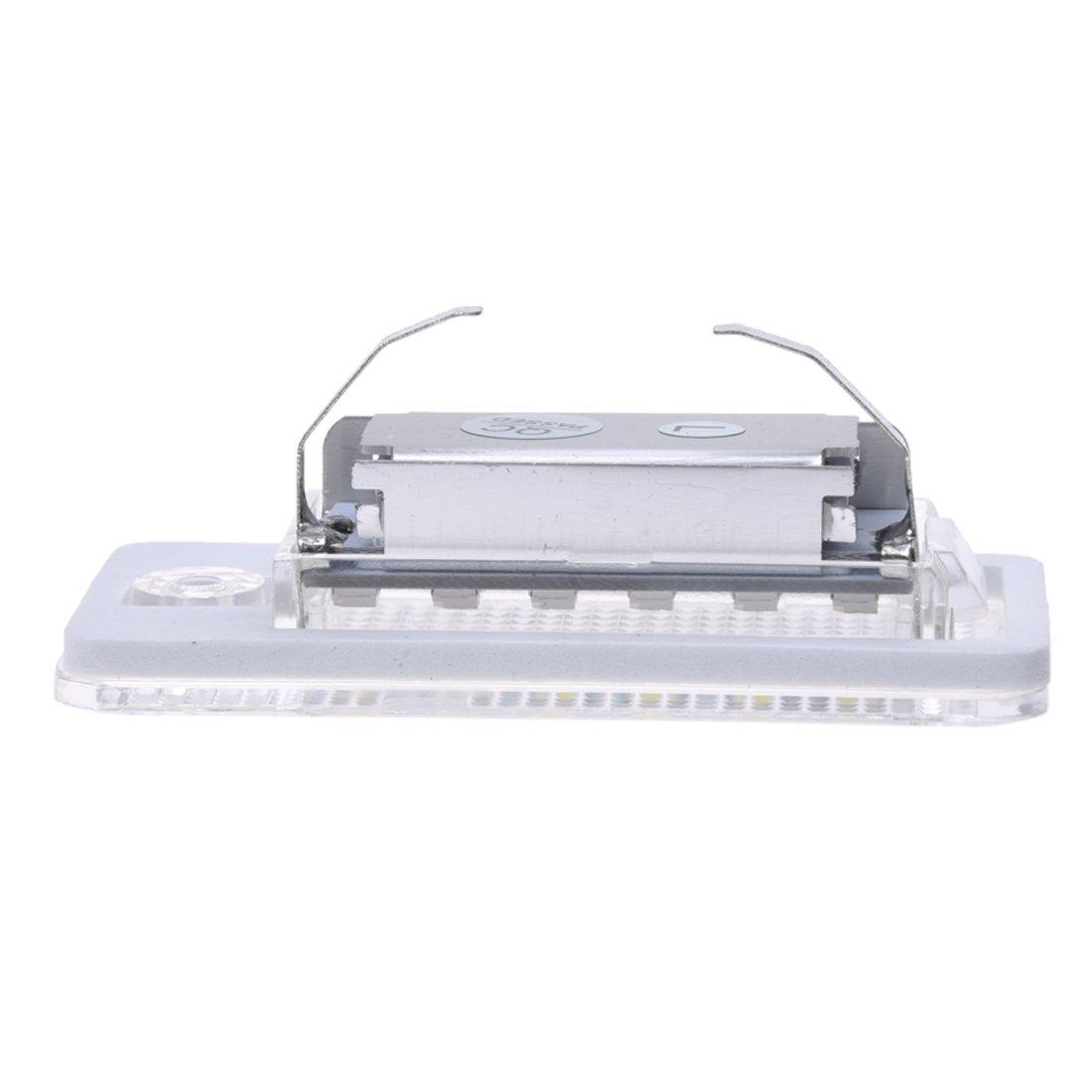 JVSISM 2 Blanco 18 SMD LED Bombilla de Placa de matricula para A3 A4 8E RS4 A6 RS6