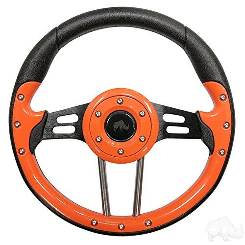 Cart Taylor Golf (Aviator 4 Golf Cart Steering Wheel (Orange))