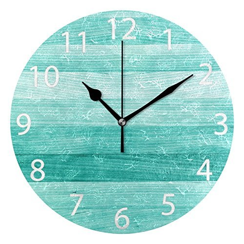 wall clock teal turquoise blue