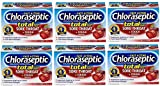 Chloraseptic Total Sugar Free Sore Throat + Cough Lozenges | Wild Cherry | 15 ct | Pack of 6 | Suppresses Cough and Cools Nasal Passages