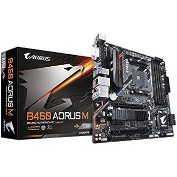 GIGABYTE B450 AORUS M (AMD Ryzen AM4/M.2 Thermal Guard/HDMI/DVI/USB 3.1 Gen 2/DDR4/Micro ATX/Motherboard)