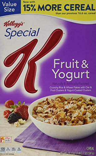 Special K Kellogg's Cereal, Fruit and Yogurt, 19.10 Ounce (Yogurt With Cereal compare prices)