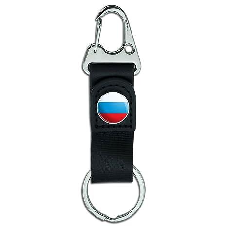 Porte-clés en cuir avec mousqueton et drapeau national ou d un État ... e4e39e75773