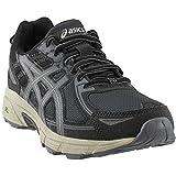 ASICS Mens Venture 6 Running Sneaker, Black/Dark Grey/Feather Grey, Size 15