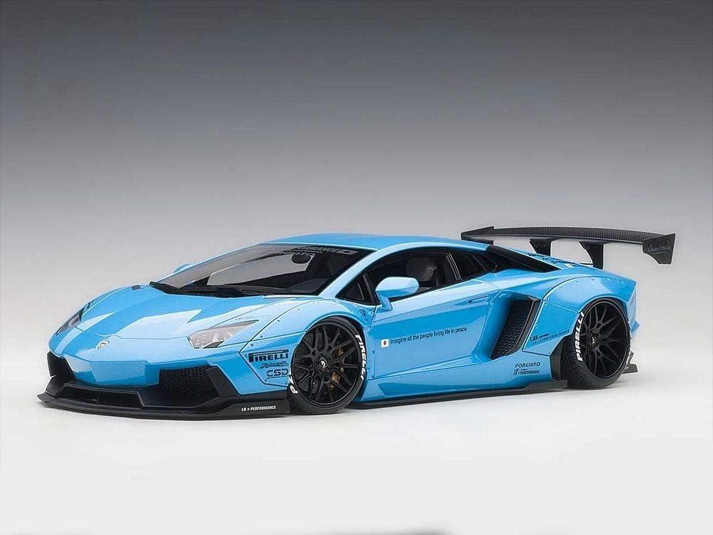 AUTOart 1/18 Lamborghini Aventador LB-Works Metallic Sky Blue Black Wheels