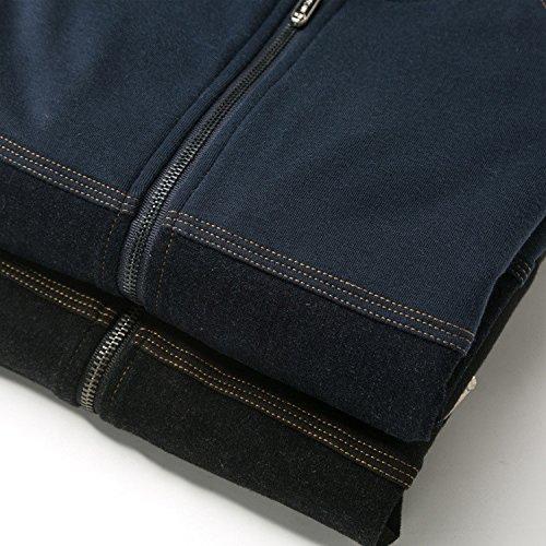 Casual Invernali Puro Giacca Scuro Maschio Camicia Blu Giacche Marea In Invernale Colore Moda Per Giovani Uomini xl BwqxXdUx