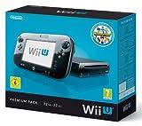 WII U BLACK 32gb deluxe premium console set with Nintendoland game