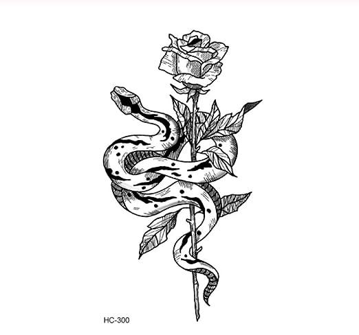 DRTHUKG Etiqueta Engomada del Tatuaje Dibujo En Blanco Y Negro ...