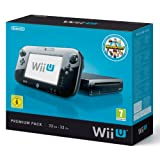 WII U BLACK 32gb deluxe premium console set with Nintendoland game