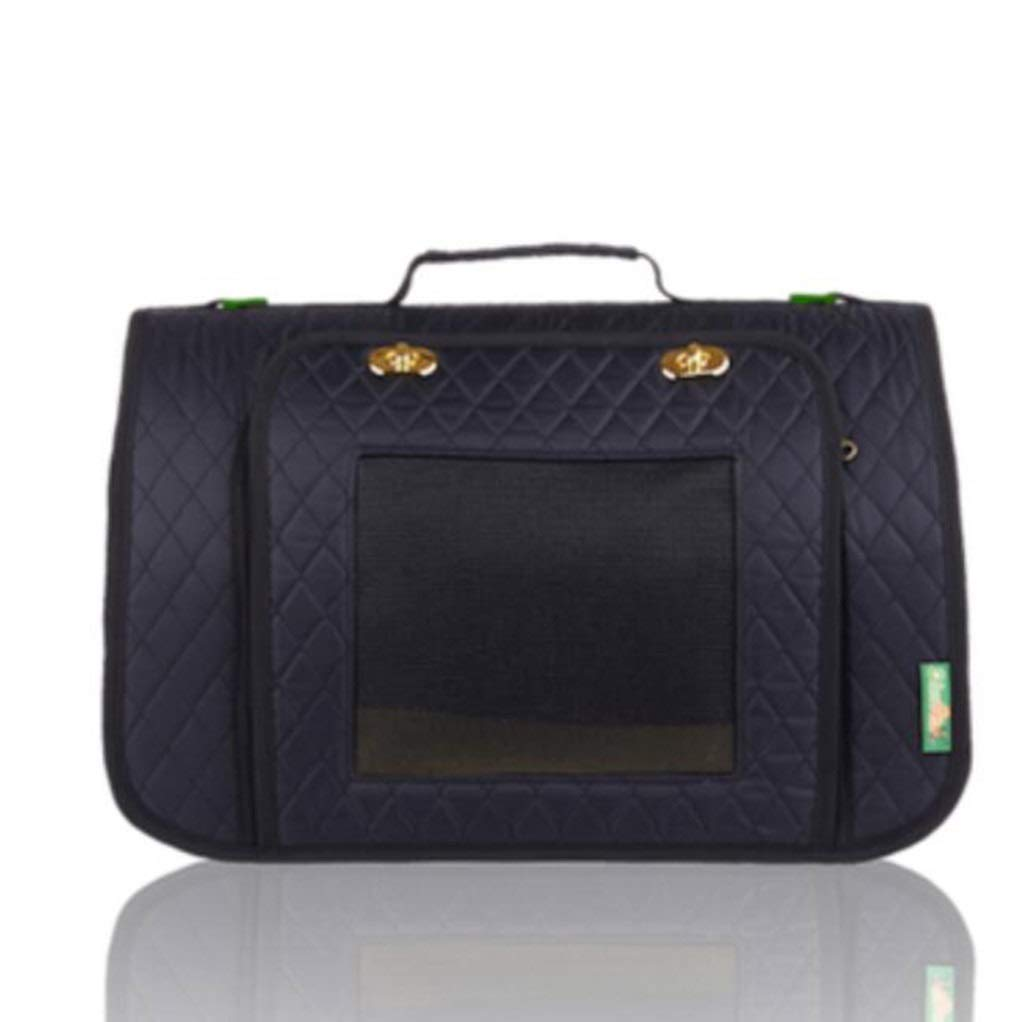 Black 44x25x27cmMIAOLIDP Pet bag  cat and dog outbound handbag  backpack  carrying case  pet supplies Pet cat carrier (color   bluee, Size   44x25x27cm)