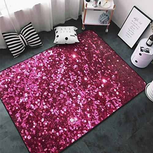Pink Glitter Background Irish Flag With Shamrock Floor Mat Living Room Bedroom Carpets Doormats 60 X 39 Inches (33 1 3 Pink Flag)