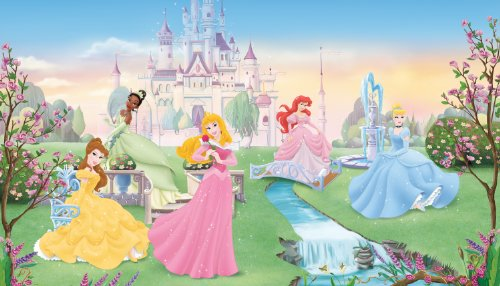 RoomMates JL1228M Disney Dancing Princess 6-Foot-by-10.5-Foot Prepasted Wall Mural by RoomMates