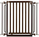 Richell Wood Easy-Lock Pet Gate, Mahogany Finish