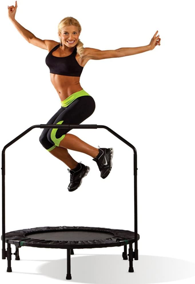 Brooke Celine Professional Gym Fitness Trampoline 40-Inch 10000 s Jump Trainer with Adjustable Handle