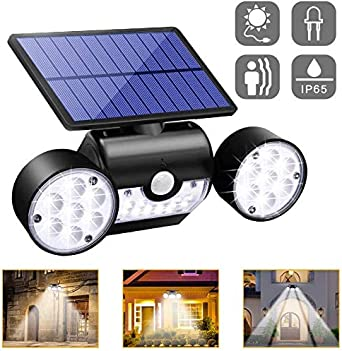 Lámpara Solar Exterior - Ultra Brillante 30 LED 2000mAh Foco Solar Exterior Apliques 120° de Pared Sensor de Movimiento Impermeable IP65 para Jardín, Patio, Terraza, Garaje, Escaleras: Amazon.es: Iluminación