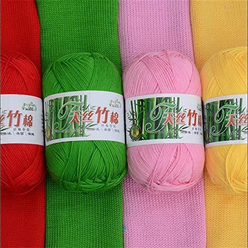 Hogar y cocina Petsdelite® Mylb 1Ball = 50G 58 Colores Hilo de punto de algodón de ganchillo de bambú suave Lana de punto de algodón de algodón de algodón de algodón de punto Algod&A