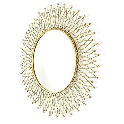 Makeup Mirror,Decorative Mirror Round Mirror Living Room Wall Hanging Mirror Sunglasses Fireplace Cabinet Mirror 82 82cm
