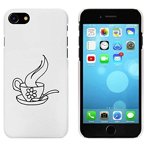 Blanc 'Tasse à thé aux Fleurs' étui / housse pour iPhone 7 (MC00080998)