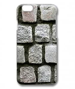 E-luckiycase PC Hard Shell Stone Walls for Iphone 6 3D Case