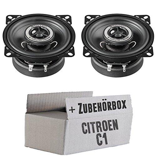 Citroen C1 - Lautsprecher Boxen Helix Match MS4X 10cm Koaxsystem Auto Einbauzubehö r - Einbauset JUST SOUND best choice for caraudio