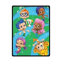 Bubble Guppies Fleece Throw Blanket Size 58inch x 80inch (Large)
