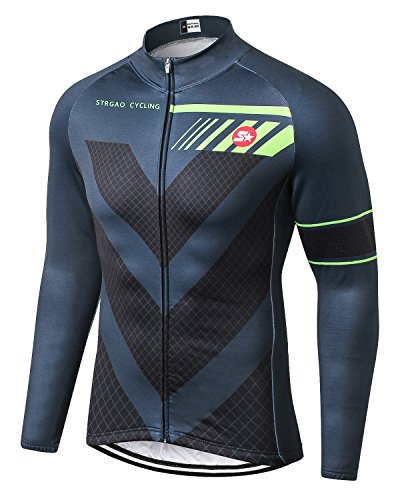 MR Strgao Men s Cycling Winter Thermal Jacket Windproof Long Sleeves Bike  Jersey Bicycle Coat Size M e16a38902