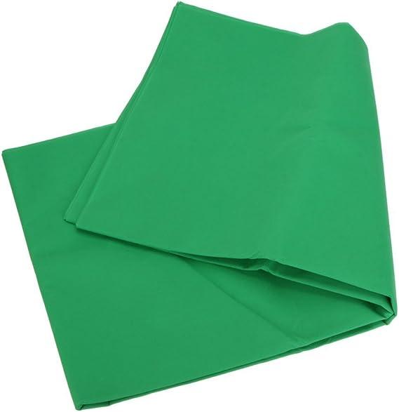 fondale 3/m x 3/m Phot-R per studio fotografico Fondale Chroma Key verde per fotografie e video Lavabile in lavatrice in tessuto non tessuto