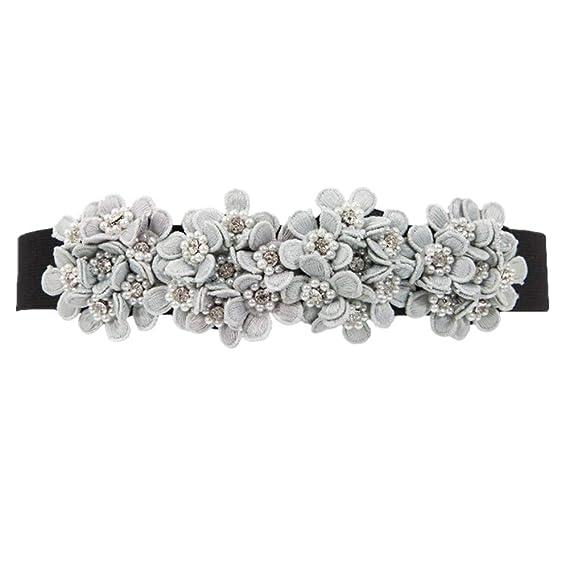 ZBYHCH Cinturón para mujer Vestido de flores Decoración Cintura ...
