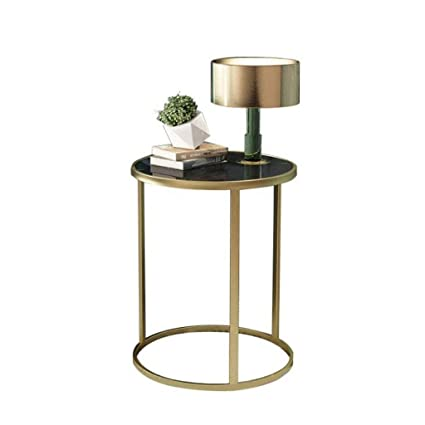 Amazon.com: L-Life End Tables Side Table Glass Coffee Table ...
