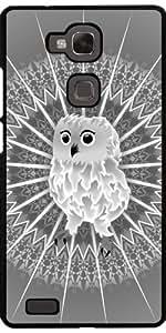 Funda para Huawei Ascend Mate 7 - Búho Y Animales Mandala Gris by Nina Baydur