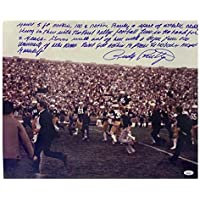 $132 » Signed Rudy Ruettiger Photograph - Football 16X20 Paragraph I - Autographed College Photos