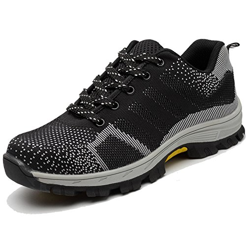 Eclimb Men's Steel Toe Cap Work Safety Shoes Breathable Outdoor Protective Footwear