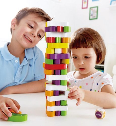 Award Winning Hape Stacking Veggies Kid's Wooden Skill Learning Game by Hape (Image #3)