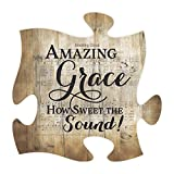 Amazing Grace Sheet Music Design 12 x 12 Inch Wood Puzzle Piece Wall Plaque