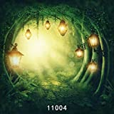 WOLADA 10x10FT Fantasy Fairy Tale Wonderland Mashroom Photography Backdrop Mysterious Forest Trees Customized Photo Background Studio Prop 11004