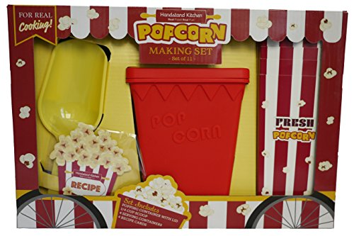 Handstand Kitchen Deluxe Popcorn Making Gift Set with Recipes